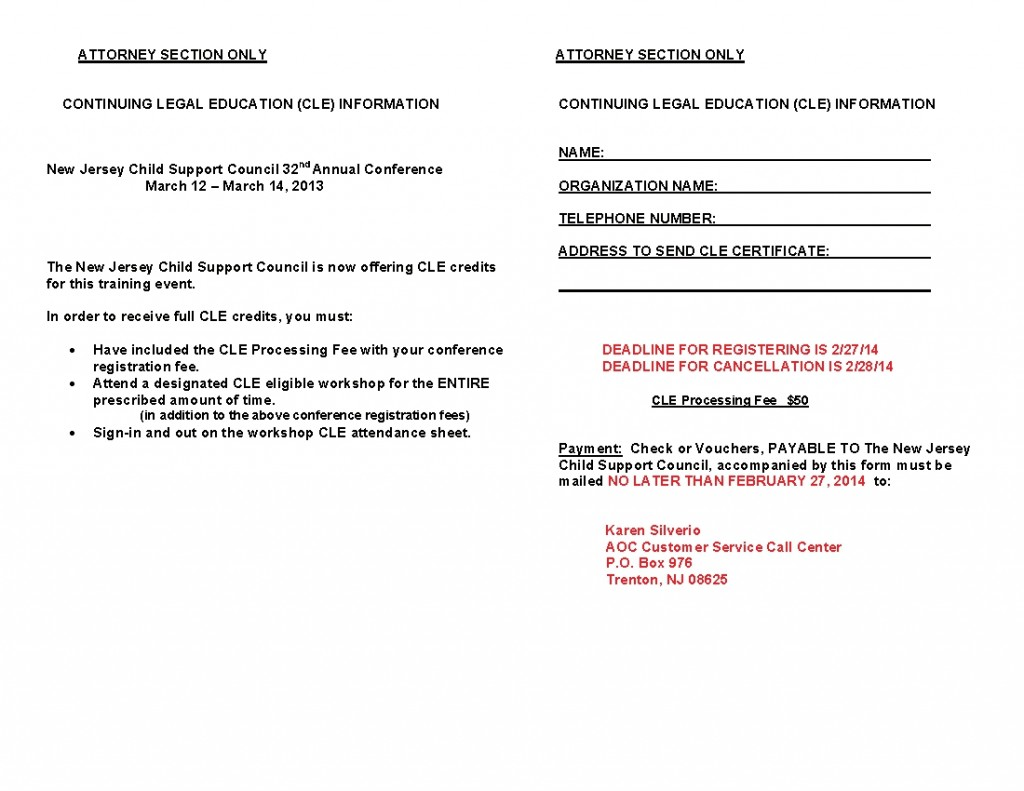 32nd Annual Child Support Training Event Flyer corrected-005