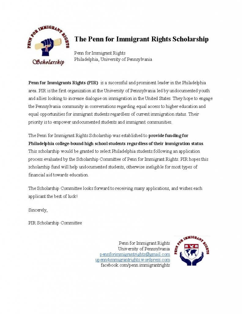The Penn for Immigrant Rights Scholarship Application-001